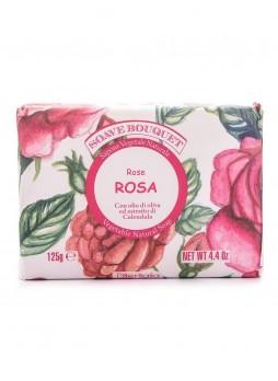Натуральное растительное мыло с оливковым маслом, экстрактом календулы и ароматом розы