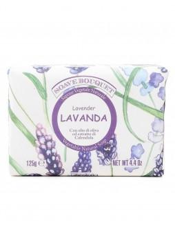 Натуральное растительное мыло с маслом оливы, экстрактом календулы и ароматом лаванды