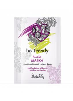 Be trendy Маска для проблемной кожи лица очищающая от жирного блеска, прыщей и угрей