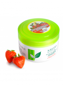 Kredo Natur Йогурт для лица и тела с ароматом клубники