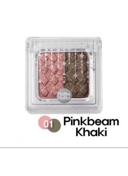 Двухцветные тени для век Хаки-Розовый
