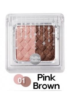 Двухцветные тени для век Коричнево-Розовые