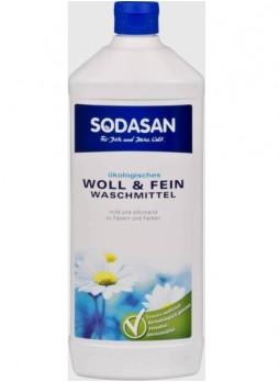 Жидкое средство-концентрат для стирки изделий из шерстяных, шелковых и деликатных тканей
